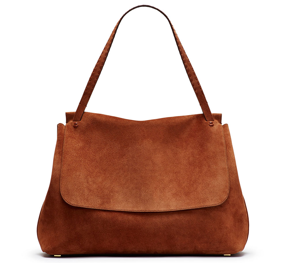 The-Row-Suede-Shoulder-Bag
